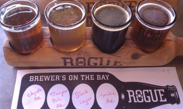Paul's sampler at Rogue.