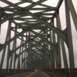 Goodbye, [not] cruel [at all] Oregon. Even the bridges here are cool.