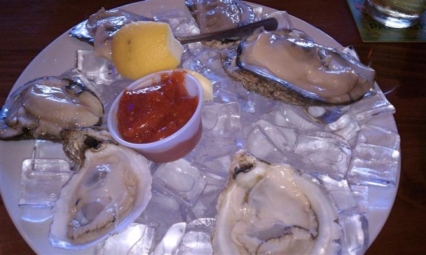 Oysters at Hooters. Side of cleavage, please.