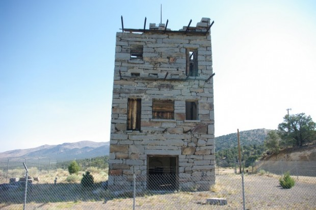 Stokes Castle in Austin, NV.