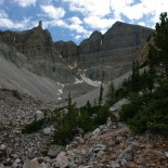 The glacier and rock glacier on Wheeler Peak. It's the lowest elevation glacier in the US.