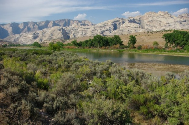 The Green River, with Split Mountain in the background.