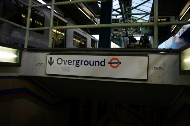 Logical train stations...when the Underground is overground and the Overground is underground.