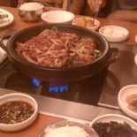 Hot and tasty Korean food.