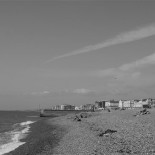The Brighton beach.