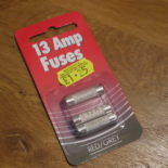 13 Amp fuses from Bradbury's Store of Things in Hackney.