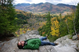 Paul napping at the top of the falls.