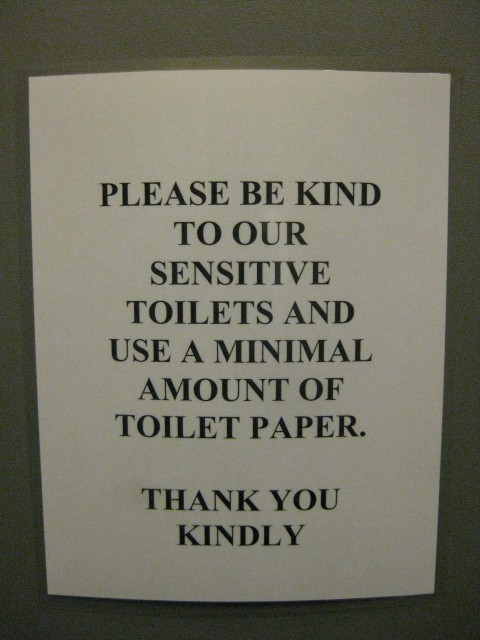 Sensitive toilets!
