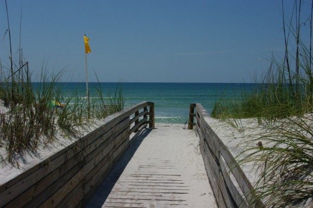 Beach access at St. Joseph Peninsula State Park.