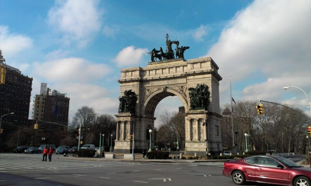Grand Army Plaza near the northern tip of Prospect Park, Brooklyn.