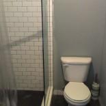 Spacious toilet.