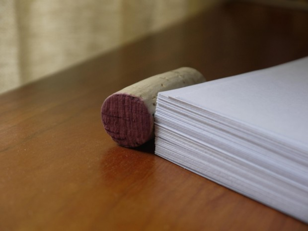 A few months ago when the stack of papers grew taller than a wine cork.