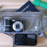 Cheap camera, dumb phone, money belt, password, flashlight. Ready for anything.